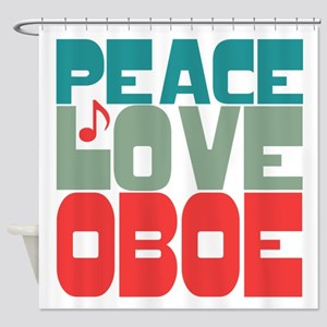 Peace Love Oboe Shower Curtain