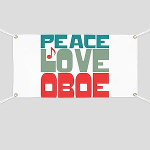 Peace Love Oboe Banner