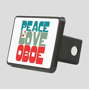 Peace Love Oboe Rectangular Hitch Cover
