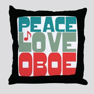 Peace Love Oboe Throw Pillow