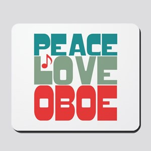 Peace Love Oboe Mousepad