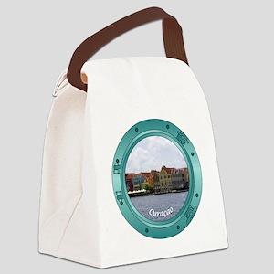 Curacao Porthole Canvas Lunch Bag