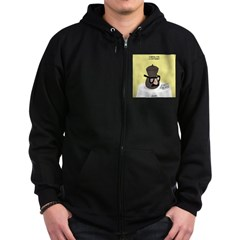 Funeral for a Cartoonist Zip Hoodie (dark)