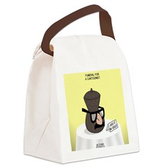 Funeral for a Cartoonist Canvas Lunch Bag