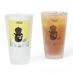 Funeral for a Cartoonist Drinking Glass