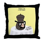 Funeral for a Cartoonist Throw Pillow
