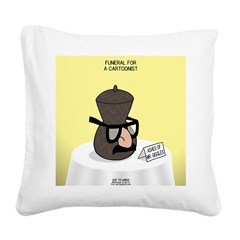 Funeral for a Cartoonist Square Canvas Pillow
