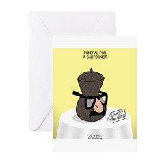 Funeral for a Cartoonist Greeting Cards (Pk of 20)