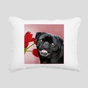 Easter pug a Rectangular Canvas Pillow