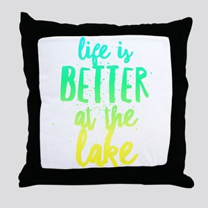 At the Lake Throw Pillow