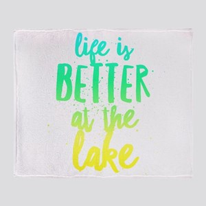 At the Lake Throw Blanket