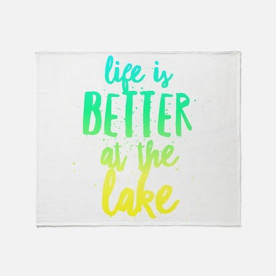 At the Lake Throw Blanket