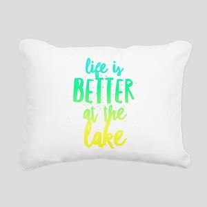 At the Lake Rectangular Canvas Pillow