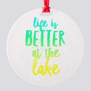 At the Lake Round Ornament