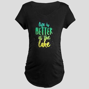 At the Lake Maternity T-Shirt
