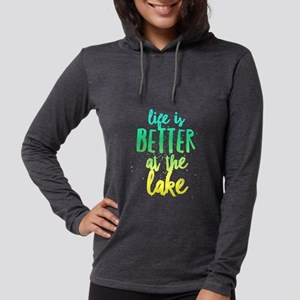 At the Lake Womens Hooded Shirt