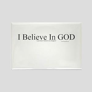I Believe in GOD Rectangle Magnet