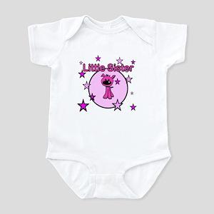 Little Sister-Pink dog Infant Bodysuit