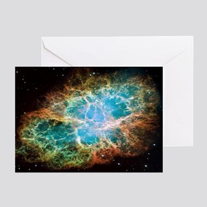 Crab Nebula Christmas Greeting Cards (Package 6)