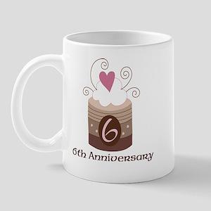 6th Anniversary Cake Mug