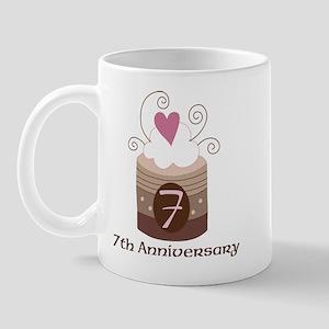7th Anniversary Cake Mug