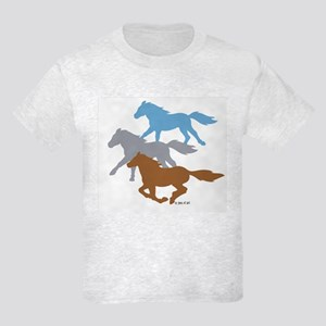 Horses Kids Light T-Shirt
