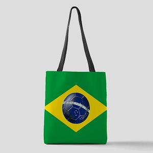 Brasileira de Futebol Polyester Tote Bag