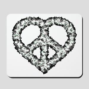 Peace Heart Mousepad