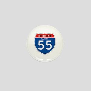 Interstate 55 - IL Mini Button