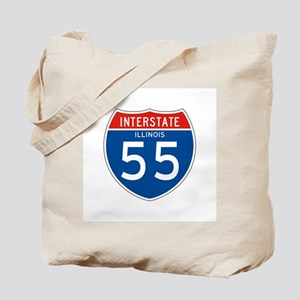 Interstate 55 - IL Tote Bag