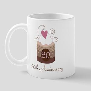20th Anniversary Cake Mug