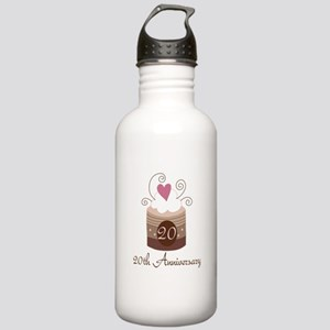 20th Anniversary Cake Stainless Water Bottle 1.0L