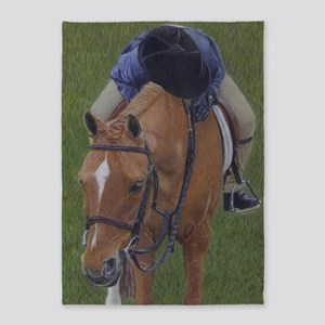 Young Rider and Pony 5'x7'Area Rug