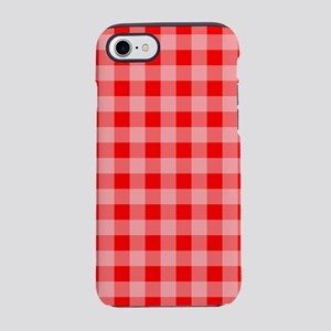 Red Plaid iPhone 7 Tough Case