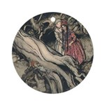 Rackham's Snow White & Rose Red Ornament (Round)