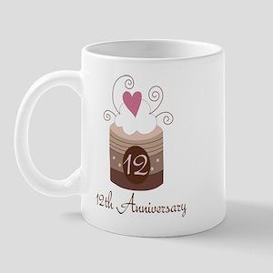 12th Anniversary Cake Mug