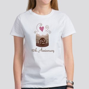 12th Anniversary Cake Women's T-Shirt