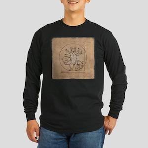 Vitruvian Squirrel Long Sleeve T-Shirt
