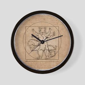 Vitruvian Squirrel Wall Clock