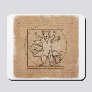 Vitruvian Squirrel Mousepad