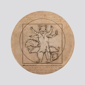 "Vitruvian Squirrel 3.5"" Button"