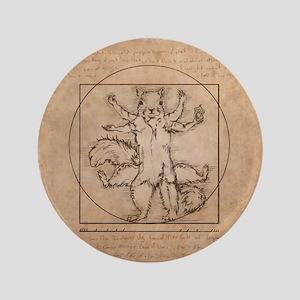 """Vitruvian Squirrel 3.5"""" Button"""