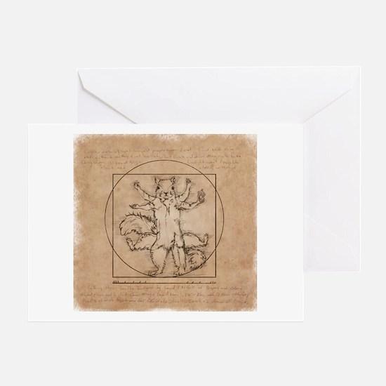 Vitruvian Squirrel Greeting Card