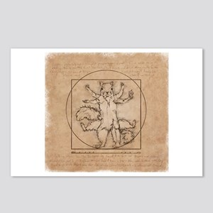 Vitruvian Squirrel Postcards (Package of 8)