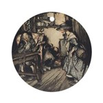 Rackham's Hut in the Forest Ornament (Round)
