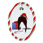 Boston Terrier Christmas Oval Ornament