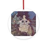 Dulac's Cinderella & Godmother Ornament (Round)