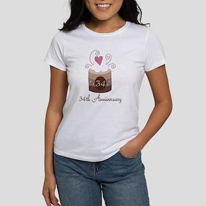 34th Anniversary Cake Women's T-Shirt