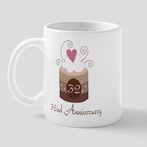 32nd Anniversary Cake Mug