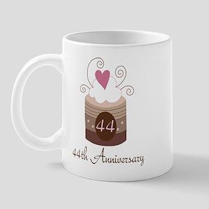 44th Anniversary Cake Mug